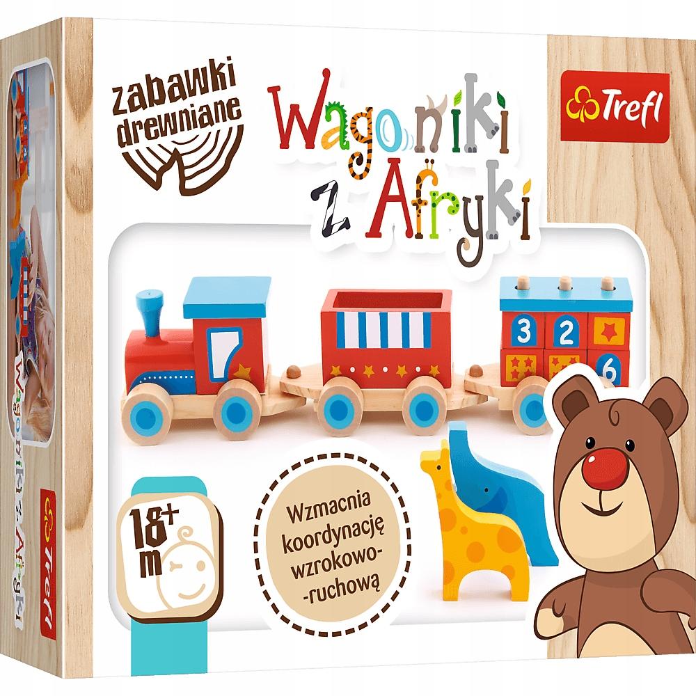 Zabawki drewniane Wagoniki z Afryki