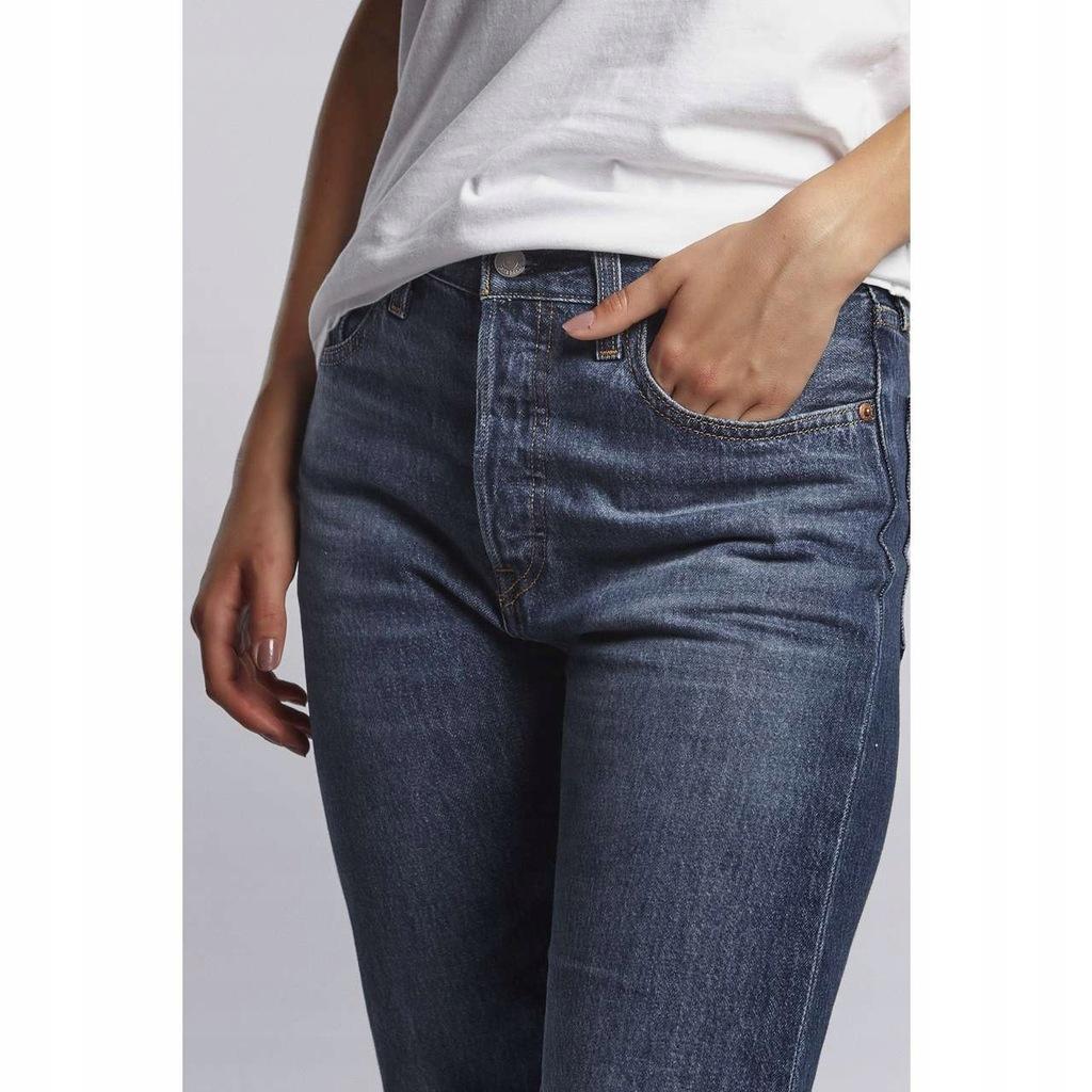 Damskie Spodnie LEVI'S 501 CROP JEANS 0080 [2626]