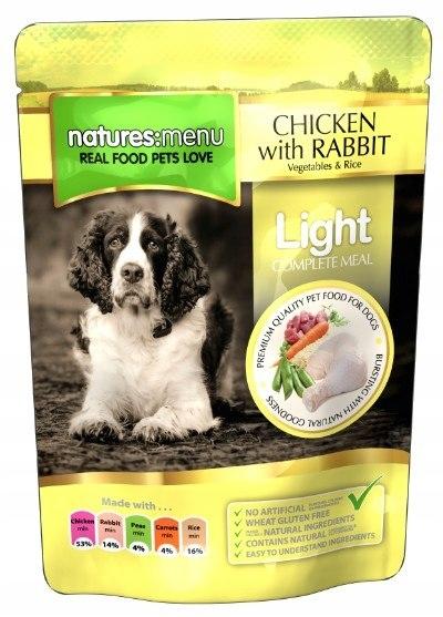 Natures Menu Pies Light - kurczak królik warzywa i