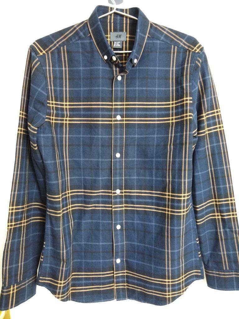 ATS koszula bawełniana H&M w kratkę rozmiar S