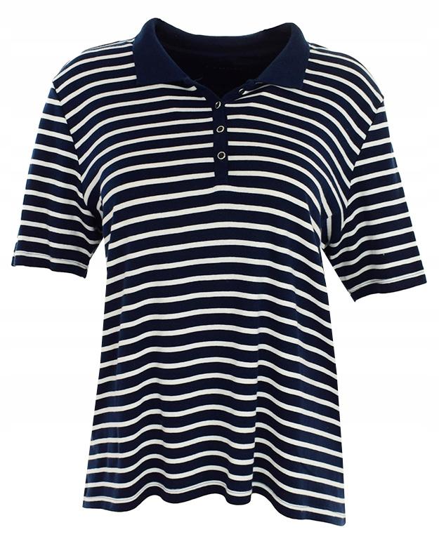 lAC7228 C&A koszula polo w paski 50