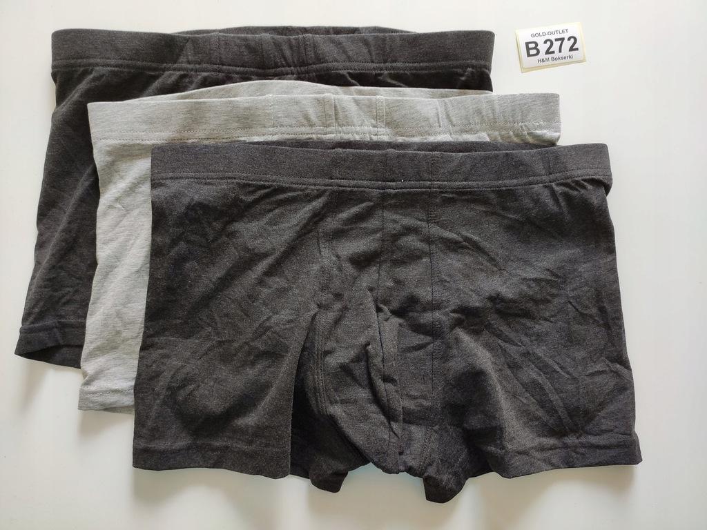 BOKSERKI majtki H&M 38 M 3-pak B272