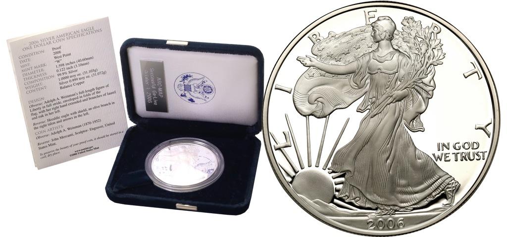USA. 1 dolar 2006 American Eagle (uncja srebra)