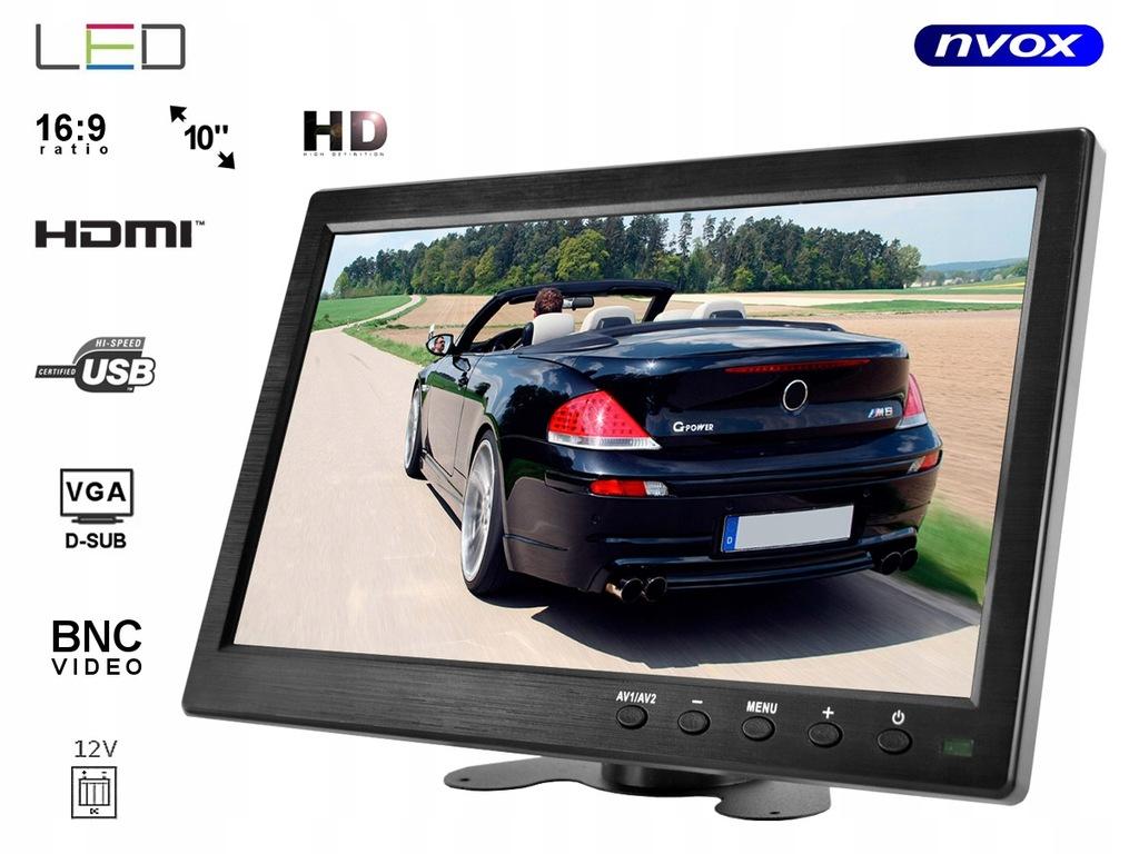 Monitor LED 10cali cali HD z HDMI VGA USB AV BNC 1