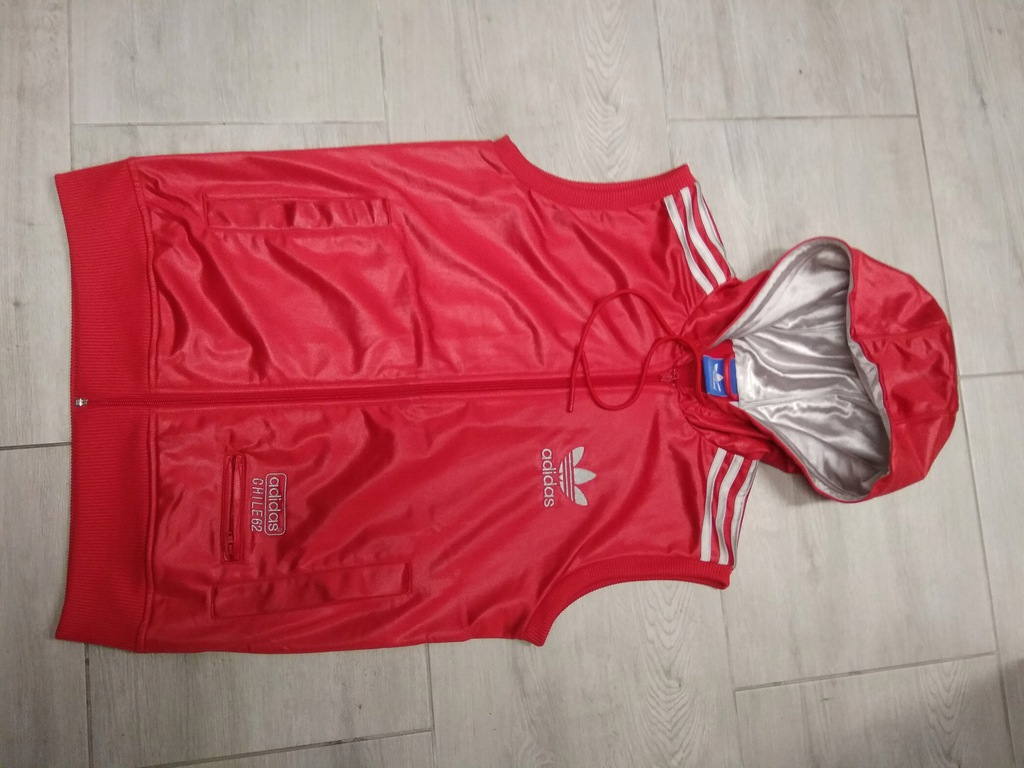 kamizelka adidas chile S red oldschool classic ykk