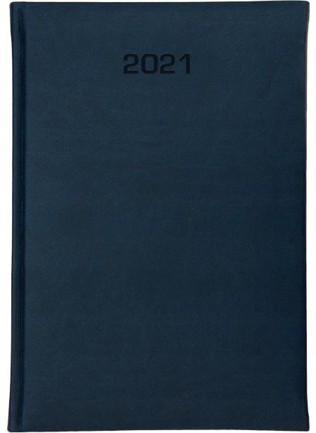 Kalendarz książkowy B6 dzienny2021 kolor GRANATOWY