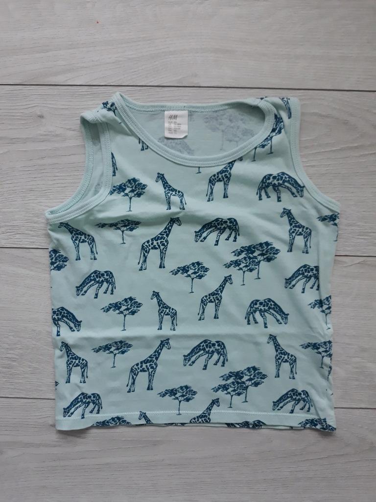 H&M koszulka na ramiączkach R 86 żyrafy safari