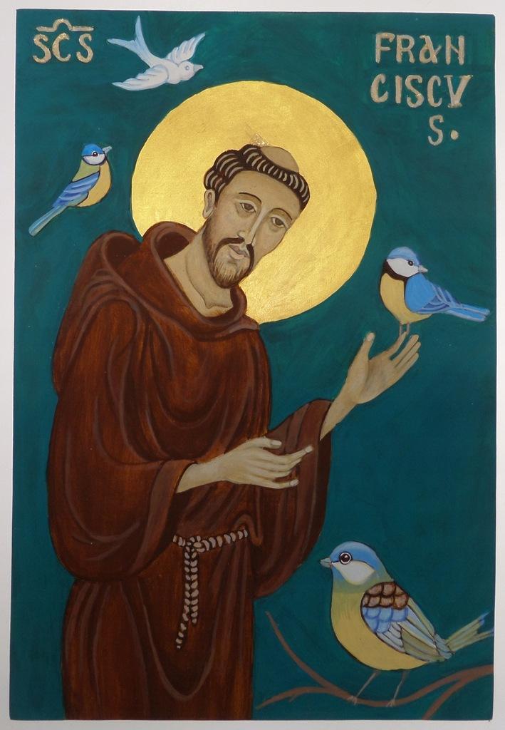 Św. Franciszek z Asyżu(1), ikona na desce