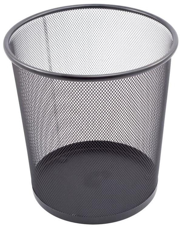 Kosz na śmieci Titanum metal CZARNY 28x26,5 ażurow