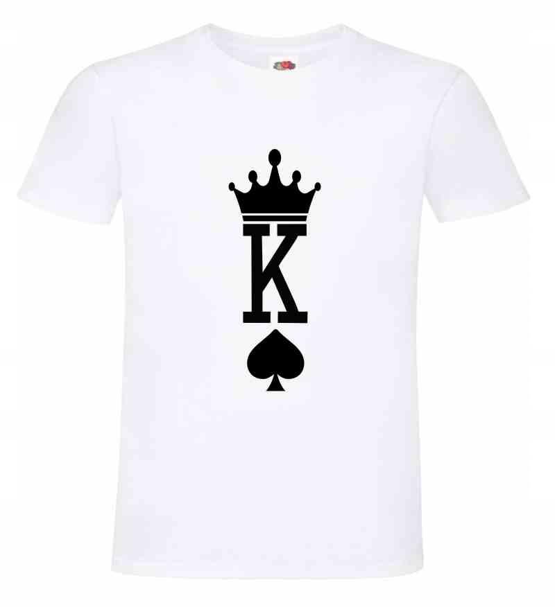 King Król Queen Królowa , koszulka T-shirt