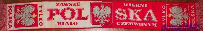 Polska szalik tkany