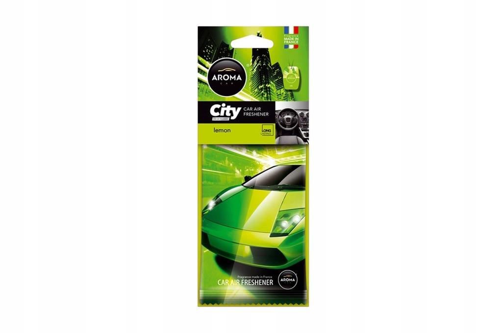 Odświeżacz powietrza AROMA CAR CITY CARD LEMON