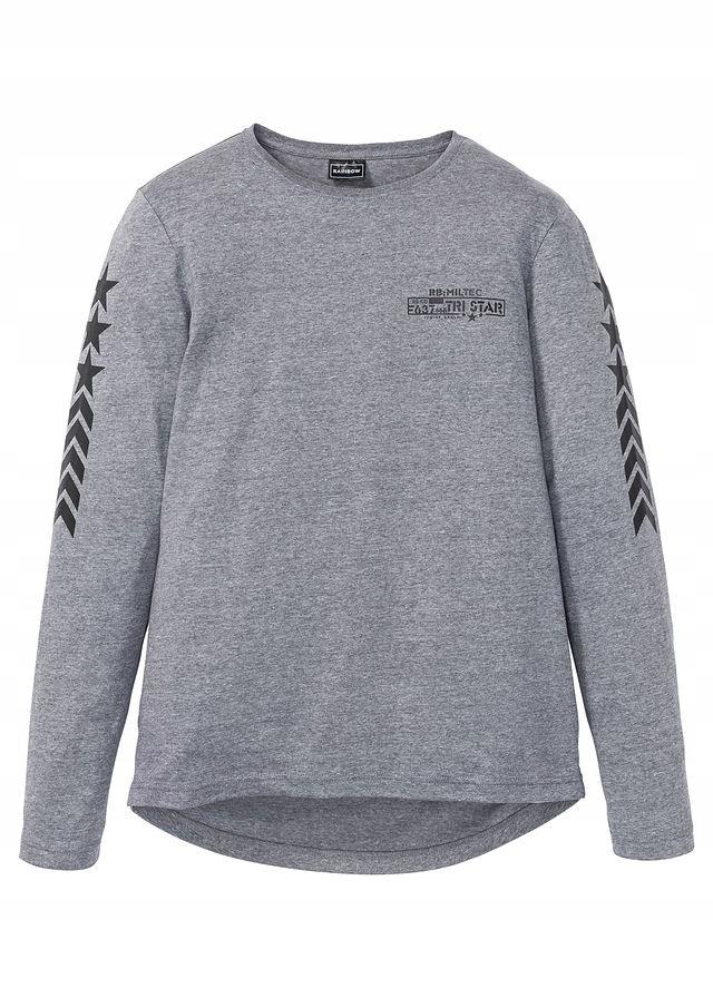 Shirt z długim rękawem i szary 48/50 (M) 950188