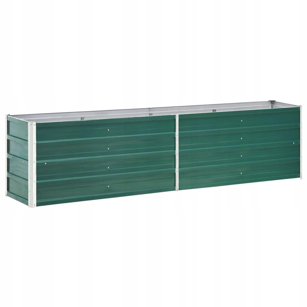 Donica ogrodowa z galwanizowanej stali, 240x40x45