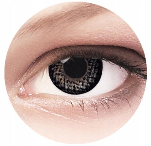 Kolorowe soczewki kontaktowe -1.25 Dolly Black 2 s