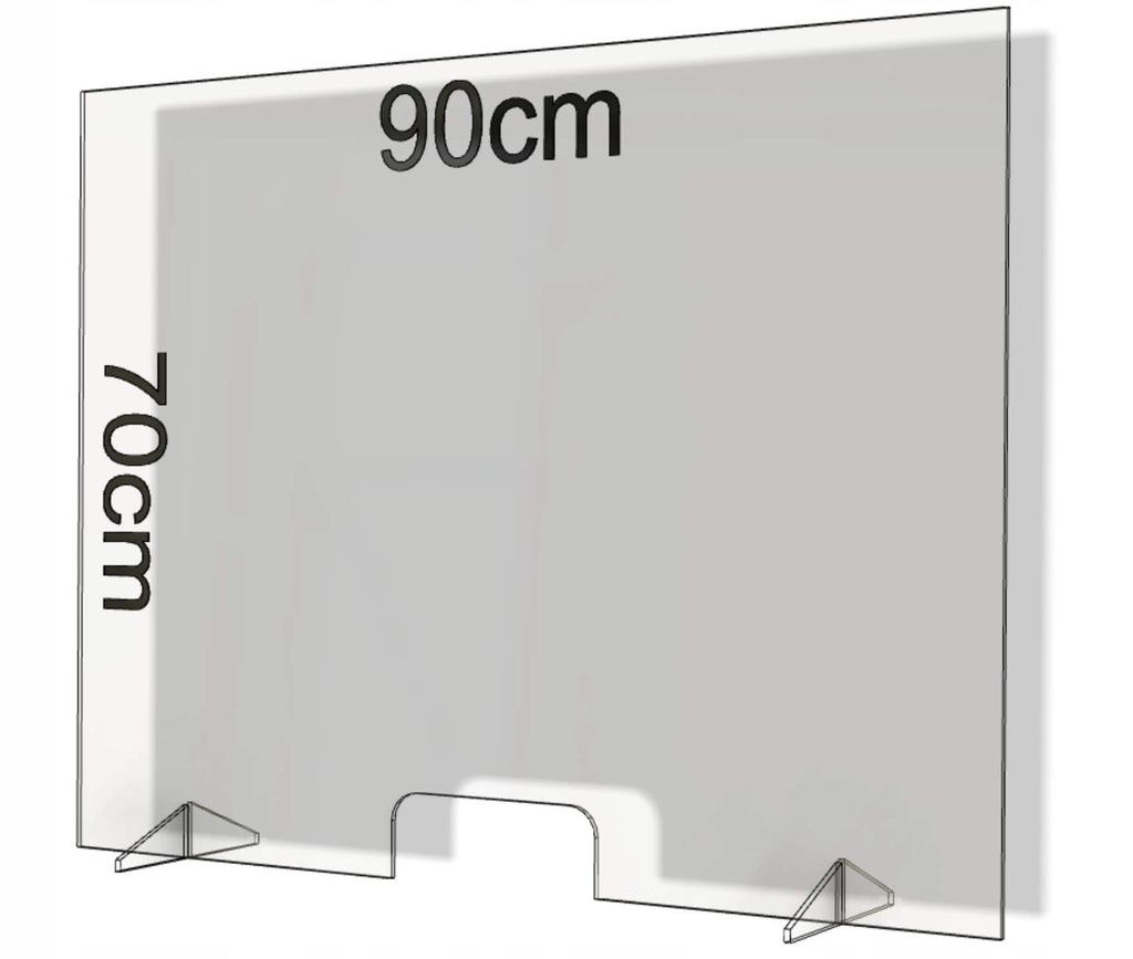 Szyba ochronna na stolik FLEXISTYLE 90 x 70