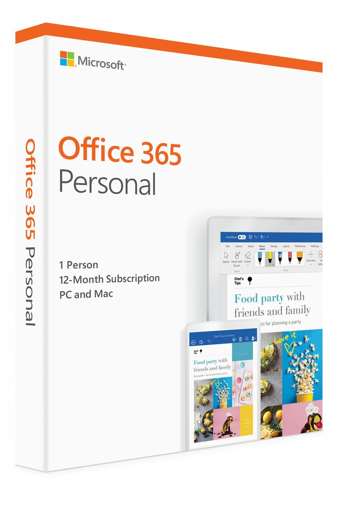 Office 365 Personal PC i Mac OS 1 rok