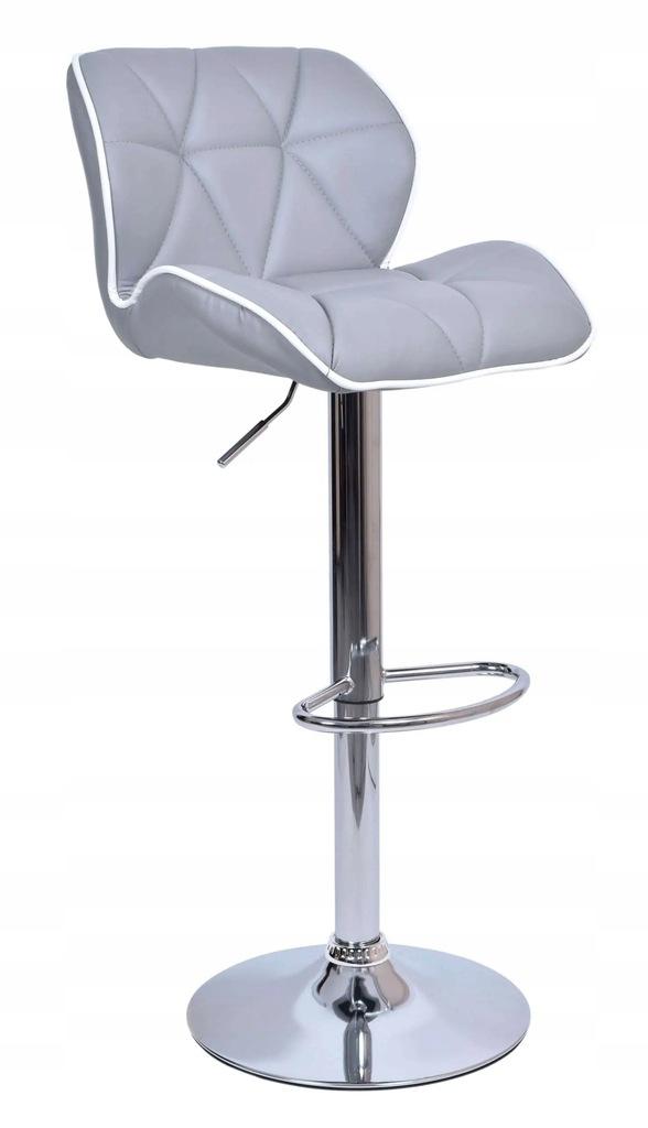 Krzesło barowe ROSSI biało-szare