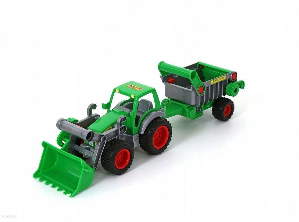 WADER 8718 Traktor-ładowarka z naczepą Farmer-tech