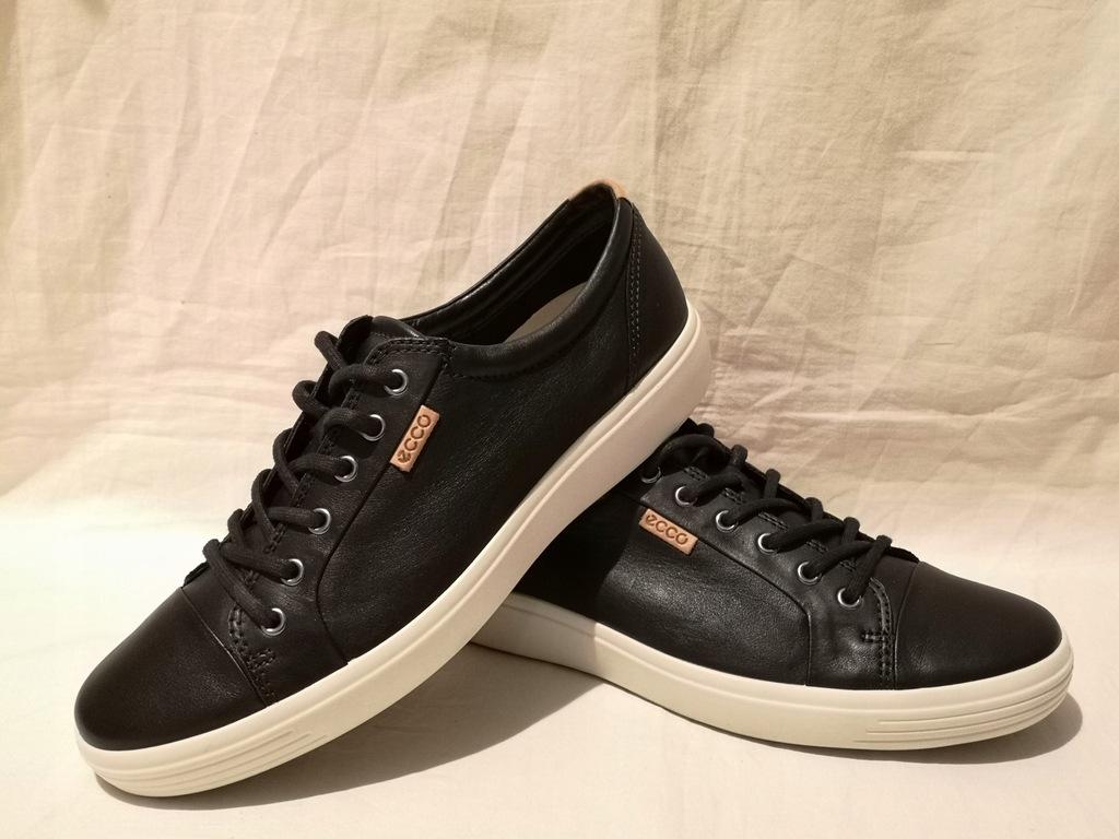 ECCO SOFT 7 wygodne skórzane buty męskie 44