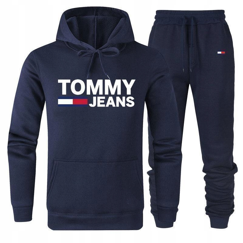 Tommy Hilfiger Dres Bluza + Spodnie L Granat