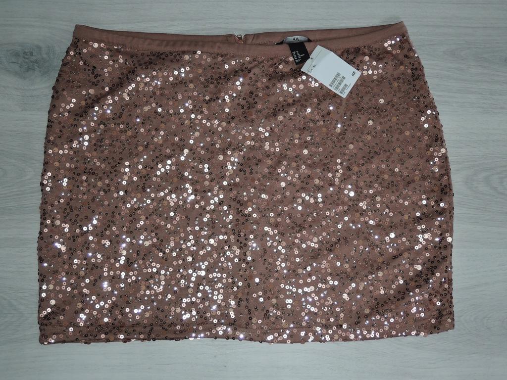 H&M Nowa Śliczna spódnica z cekinami XL