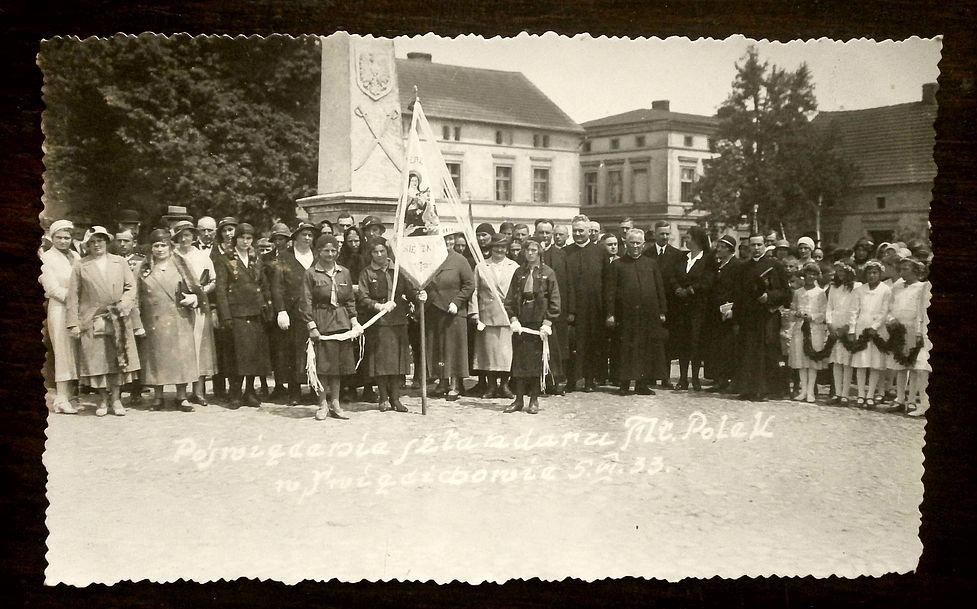 Święciechowa p. Leszno sztandar ks. L. Fiutak 1933