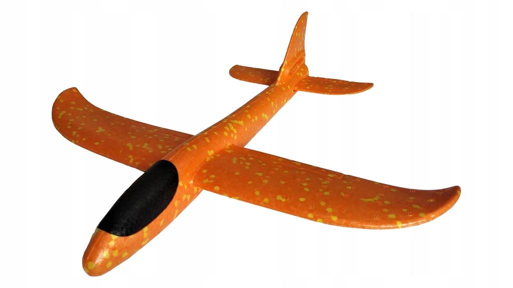 Szybowiec Rzutka Samolot Styropian 47 CM Pomarańcz