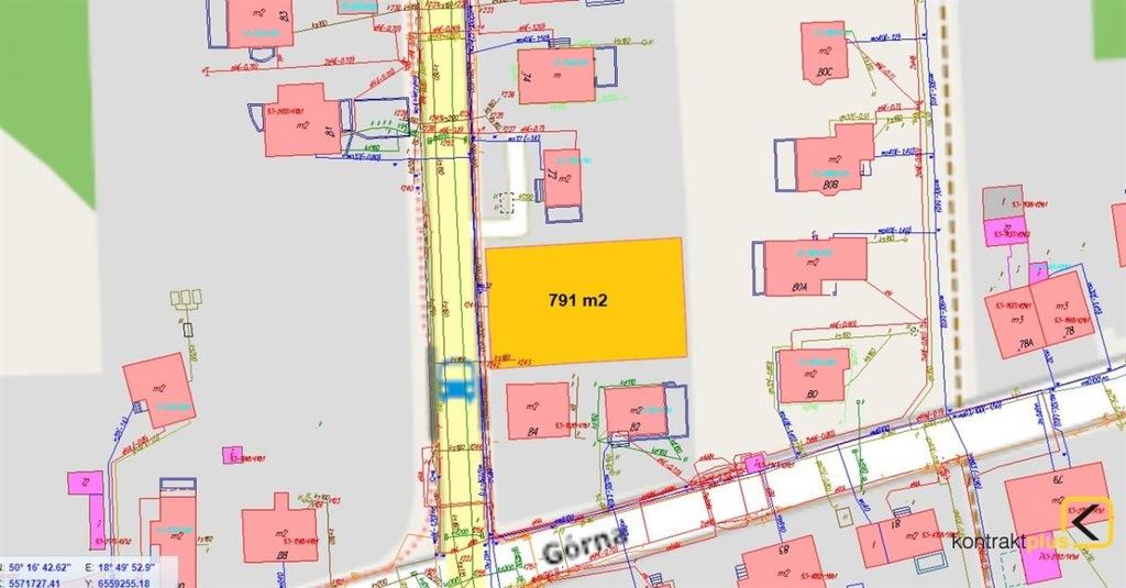 Działka, Ruda Śląska, Bielszowice, 791 m²