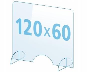 OSŁONA z pleksi ochronna PA szyba 4mm plexi 120x60