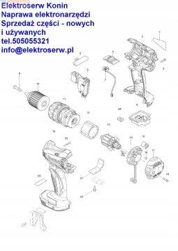 Makita włącznik 650637-9 do wkrętarki akumulatorow
