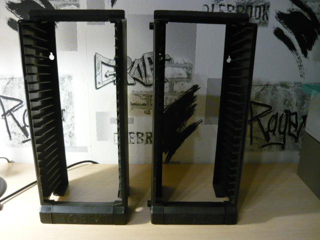 Zestaw 2 stabilnych stojaków TOBEX na 20 płyt CD