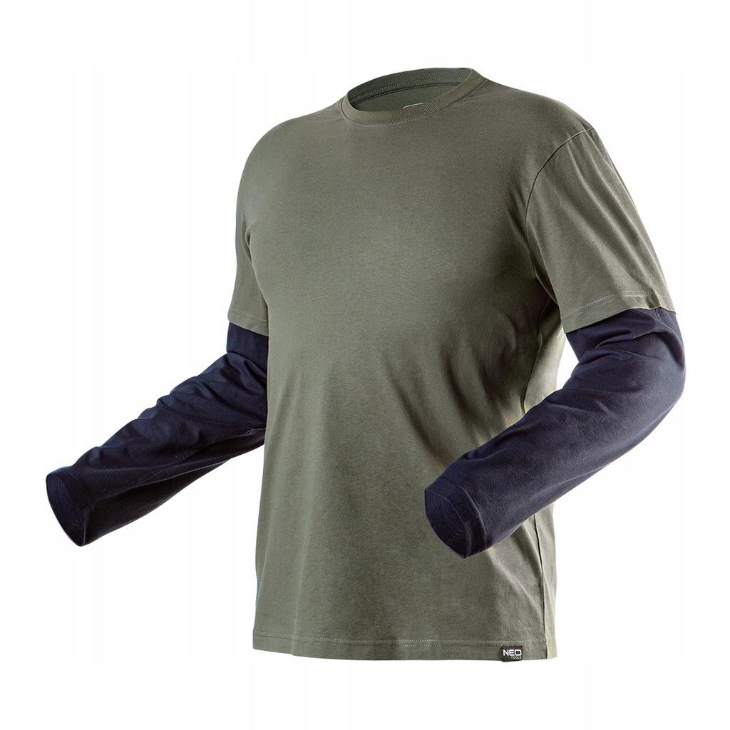Koszulka z długim rękawem CAMO olive, rozmiar S