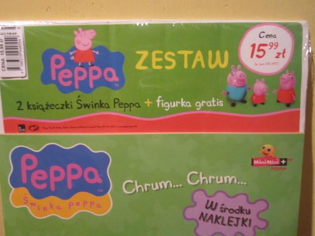 2książeczki ze świnką Pepą zestaw z figurką świnki