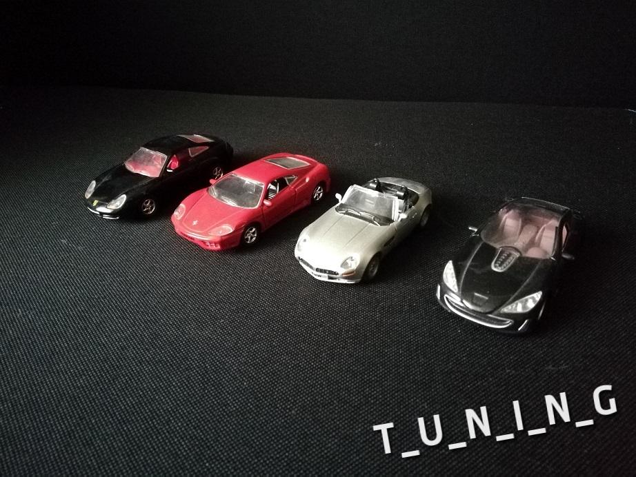 4 modele - Ferrari, Porsche, Peugeot, BMW
