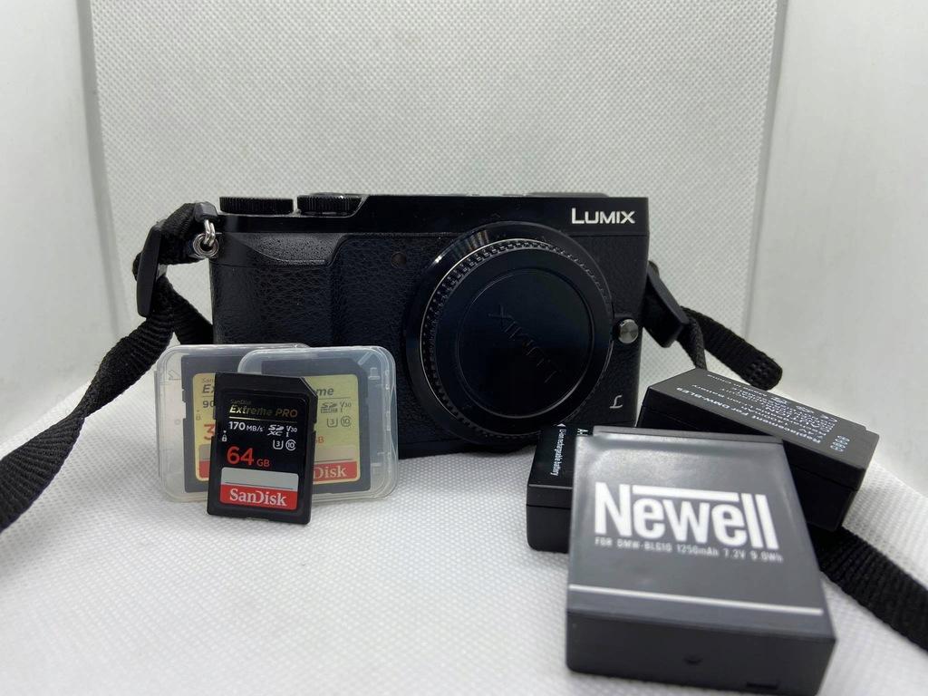 Aparat LUMIX GX80 zestaw (baterie, karty, torba)