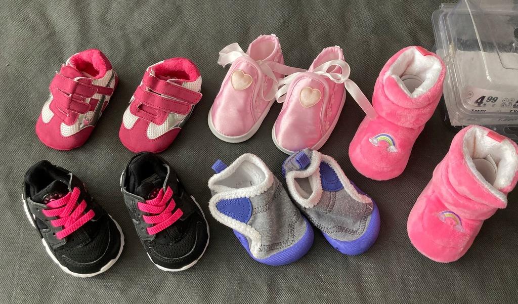 Buty zestaw buciki niechodki wyprawka paka Nike