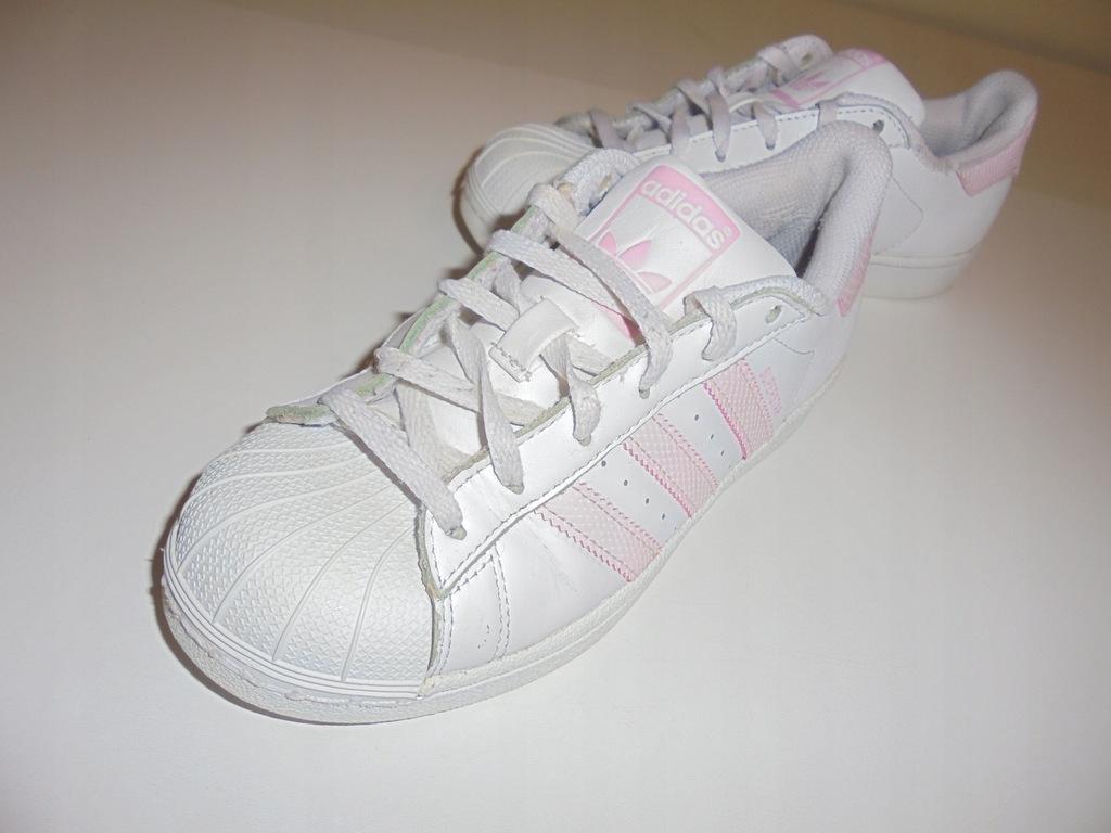 Skórzane buty Adidas Superstar. Rozmiar 35,5. 8262501427