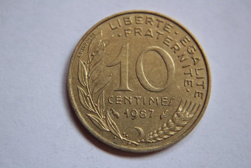 10 CENTIMES 1987 FRANCJA -W266