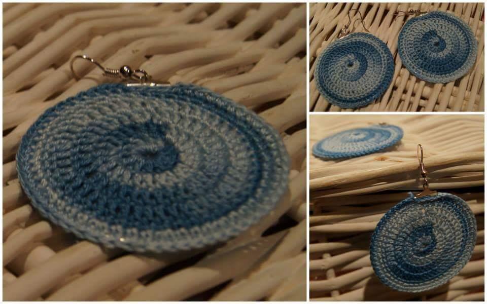 Kolczyki handmade szydełkowe