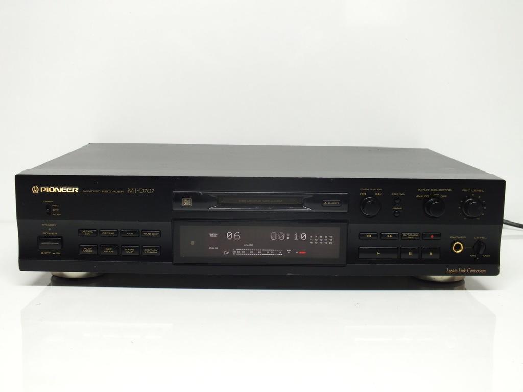 PIONEER MJ-D707 BLACK minidisc + Pilot