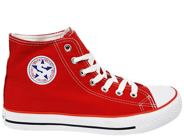 Trampki SMITHS wysokie czerwone buty damskie 38