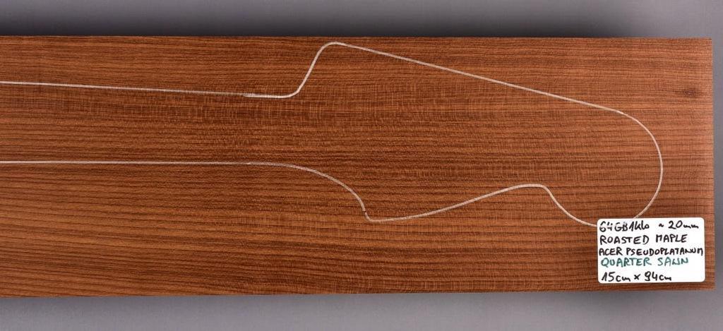 Drewno KLON PIECZONY na 1 lub 2 gryfy, 20mm, 64GB1