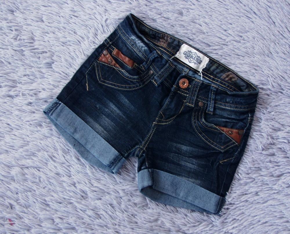 NEW LOOK__spodenki jeansowe skóra 140 146