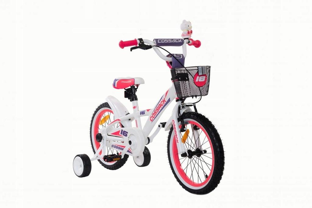 Rower dziecięcy aluminiowy Cossack Blanic - biały