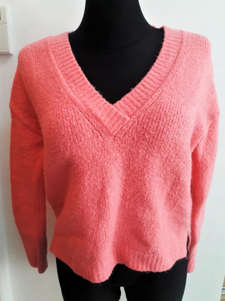 Sweter gruby różowy zima NEXT 40 L casual