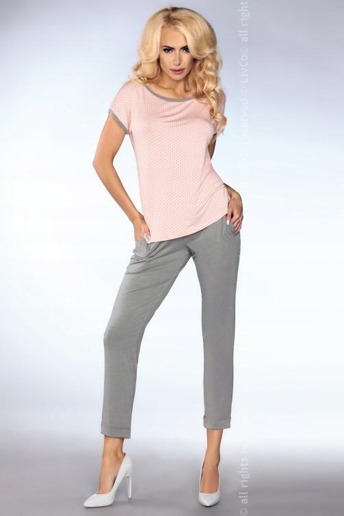 Piżama Mimi 101 Grey-Pink (Szaro-różowa)