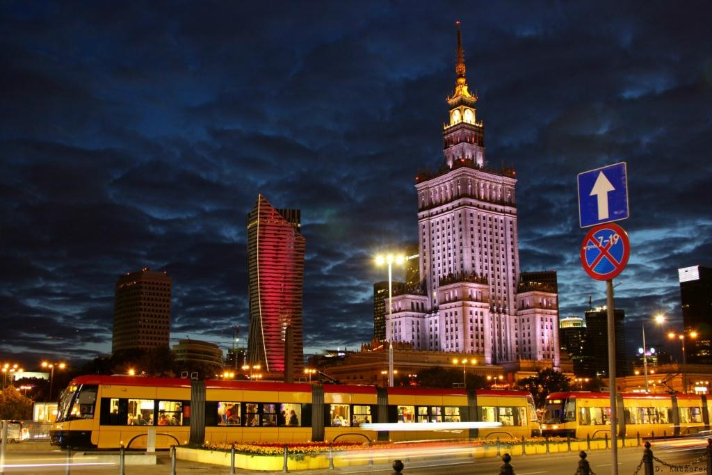 Warszawa Tramwaj Pałac Kultury fotografia 5,9 MB