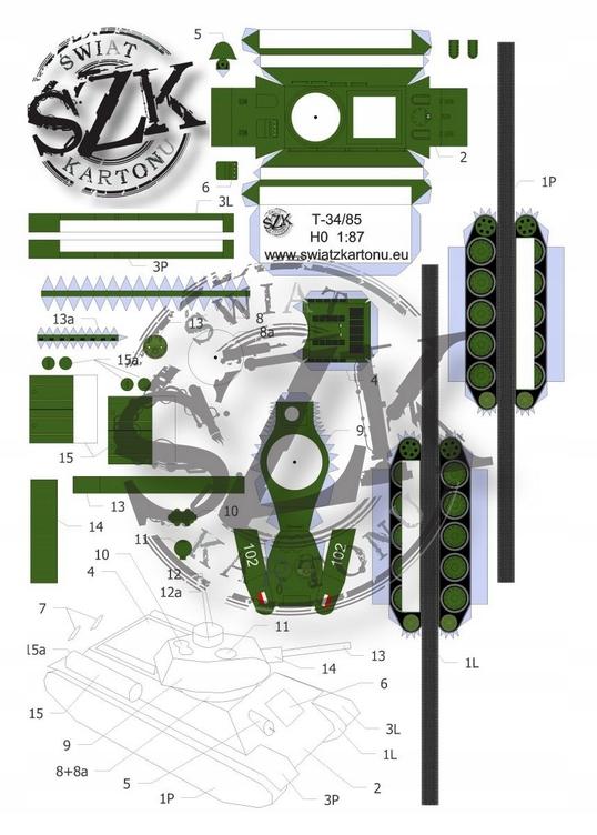 T-34/85 - 1/87(H0)