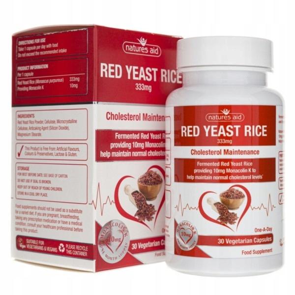 Natures Aid Czerwony ryż 333 mg 30 k cholesterol